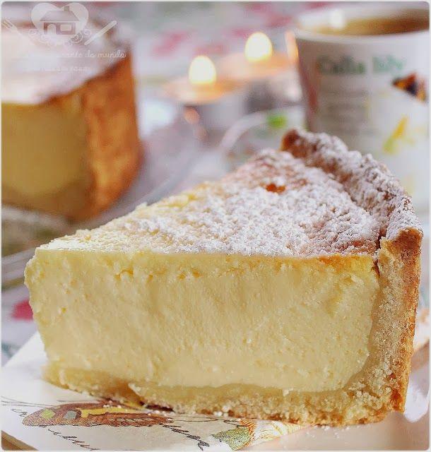 Parece torta de requeijão Receita do Verdadeiro Bolo de Queijo Alemão ( Käsekuchen) - O melhor restaurante do mundo é a nossa Casa