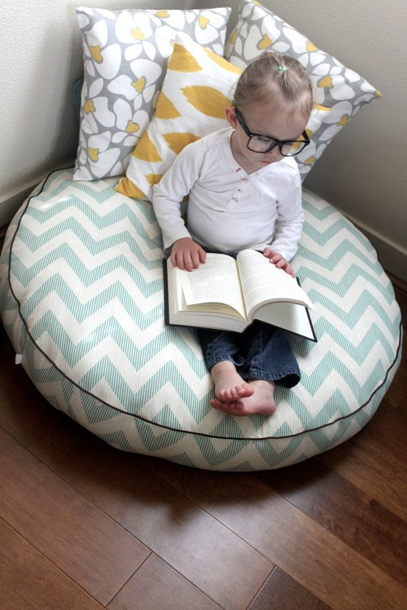 The Reader Giant Floor Cushion Chevy Lagoona by sydandstitch $85