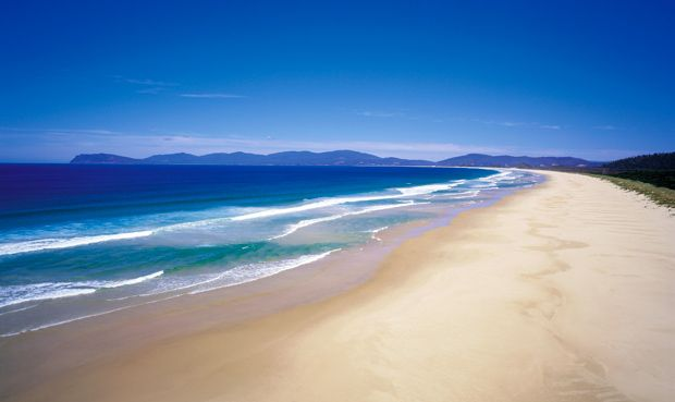 Bruny Island - Tasmania - This exclusive spot has an abundance of diverse wildlife, featuring white wallabies, fairy penguins, fur seals, and various exotic birds. This tiny island has crystal blue waters and pristine sands. Plus, camping is free.