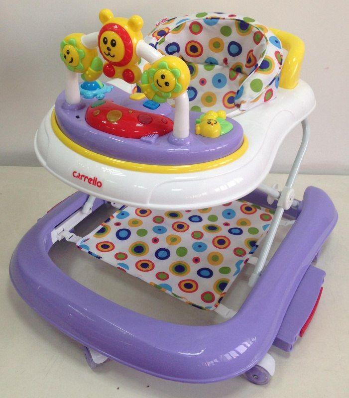 Ходунки Carrello CRL-9602 purple с качалкой  Цена: 38 AFN  Артикул: CRL-9602 p  Яркие, симпатичные, удобные детские ходунки, с игровой панелью и веселыми игрушками, легко трансформируются в качалку для дополнительного развлечения малыша. Ходунки регулируются по высоте в нескольких положениях. Имеют стандартный размер, легко складываются при необходимости. Удобны и практичны в использовании.   Подробнее о товаре на нашем сайте…