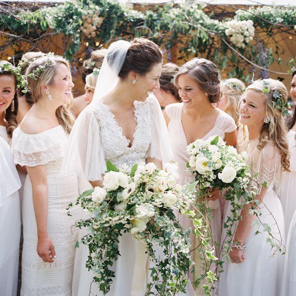 A noiva e as madrinhas