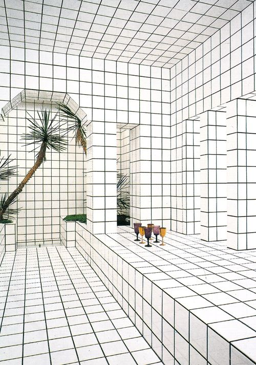 jean pierre raynaud - la maison de la celle saint cloud... HYPNOTIC! all those lines!!!