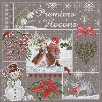 First Snow Flakes - Premiers Flocons – Cross Stitch Diva