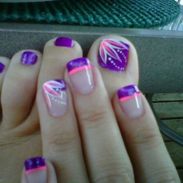 25+ Best Ideas About Purple Toe Nails On Pinterest