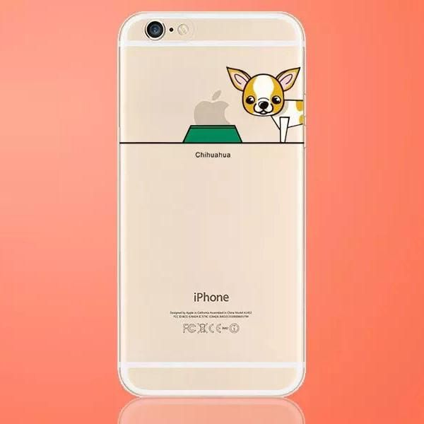 Chihuahua Celebrate Your Purebred at the Dog Dish Smart Phone Case for iPhone 6 6s