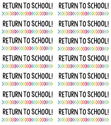 "Label your students' take home / homework folders with ""Return to School"" &…"