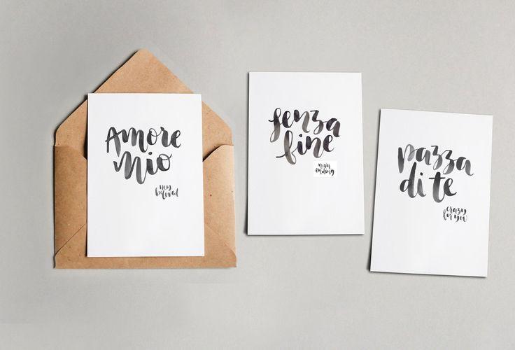 Handlettered Italian Wedding Favours - brave + Brogue - Postcards