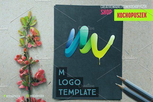 M logo template by Kochopuszek on @creativemarket