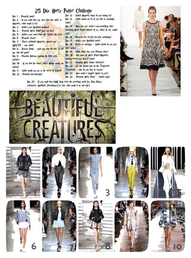 """Day 14: sneak into fashion week"" by stella-de-luna-fashion ❤ liked on Polyvore featuring Oscar de la Renta"