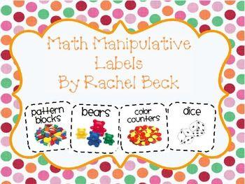 Free tpt math tub labels #math #classroomorganization