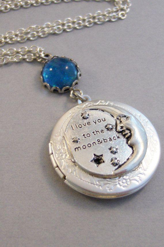 Mond Liebe Mond Halskette Mond Jewlery Blue Moon Mond
