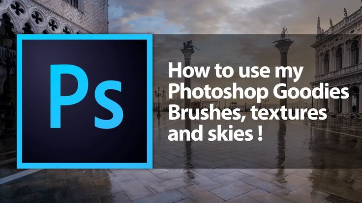 How to use my Photoshop Goodies Brushes, textures and skies!