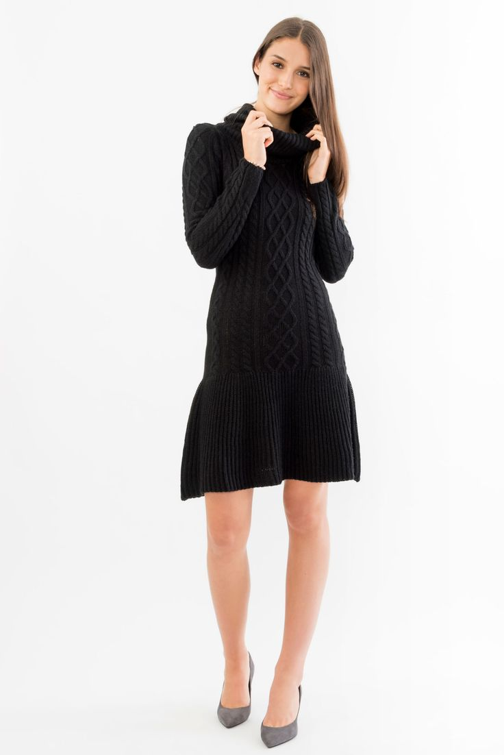 Cowl Neck Fit and Flare Dress