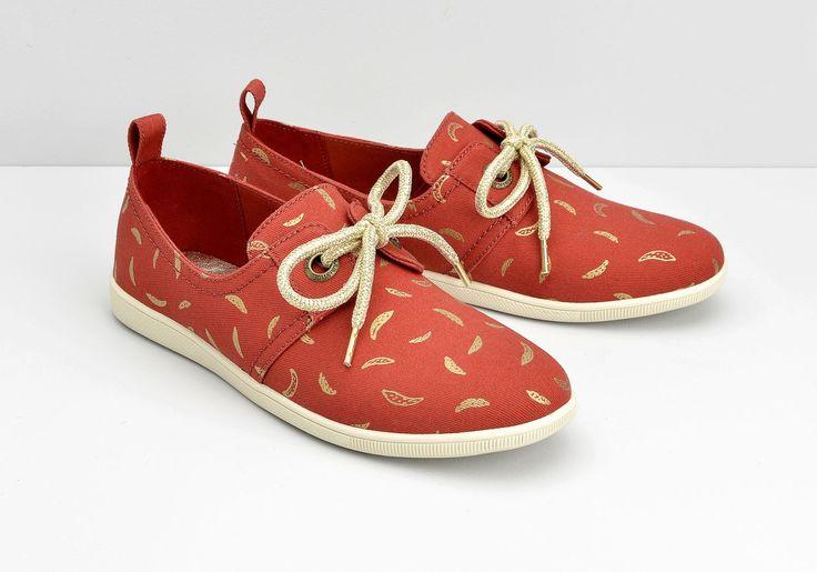 Basket Armistice Stone One W - Banana - Coclico - chaussures en toile imprimée Banane de la collection #Armistice Femme