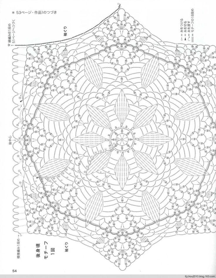 79 best Blusas crochet con motivo central images on Pinterest ...