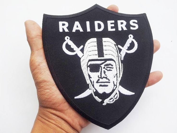 Lot of 2 NFL Oakland Raiders Iron On Patch Embroidered Sew Applique Badge #Unbranded #OaklandRaiders