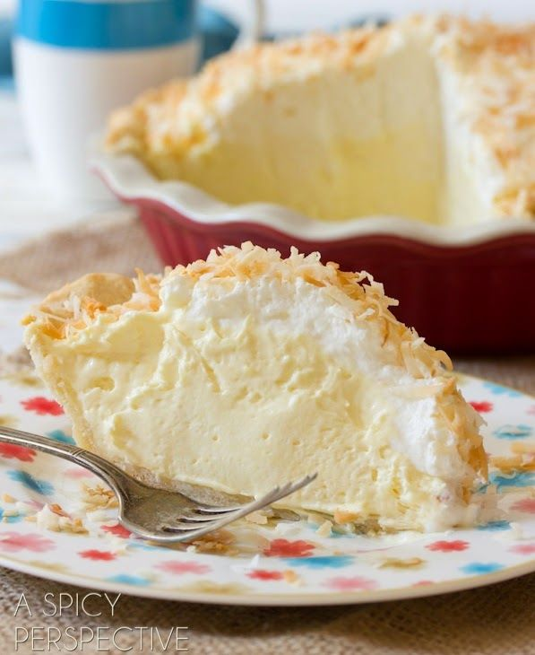 Coconut Cream Pie   Ingredients :  For the Coconut Crust:   1 1/4 cup all-purpose flour  1 stick COLD unsalted butter (1/2 cup)  1/3 cup...