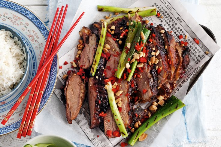 Sticky hoisin barbecued lamb shoulder http://www.taste.com.au/recipes/31805/sticky+hoisin+barbecued+lamb+shoulder