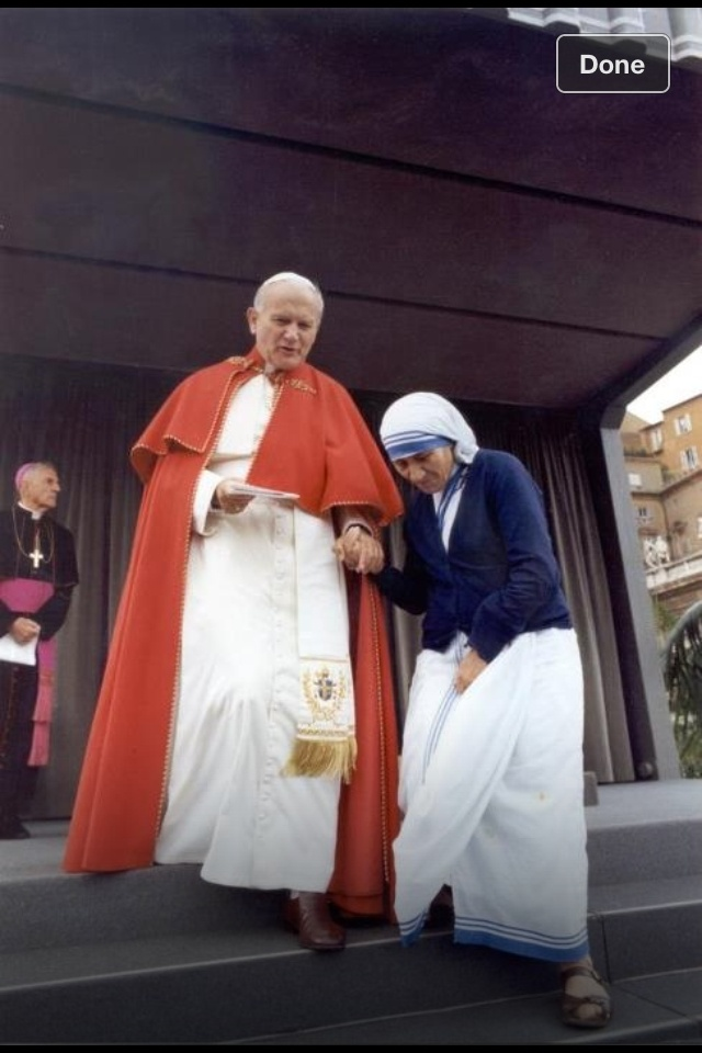 <3 <3 Pope John Paul II and Mother Theresa <3 <3