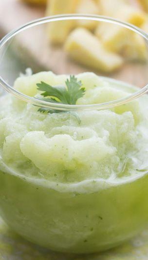 Frozen Pineapple Cilantro Mojitos Recipe