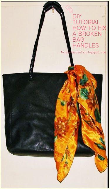 DIY TUTORIAL leather bag handles jak naprawić zepsute rączki torebki i jak uszyć nowe skórzane rączki do torebki diy