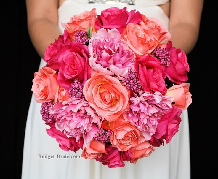 Hot Pink and Coral Wedding Flower Package