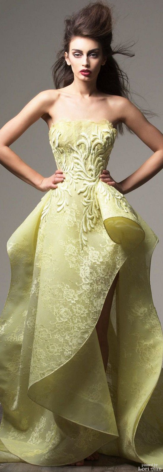 Saiid Kobeisy Couture Fall 2015 women fashion outfit clothing style apparel @roressclothes closet ideas