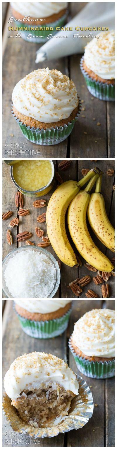 Hummingbird Cake Cupcakes Recipe Sour Cream The O