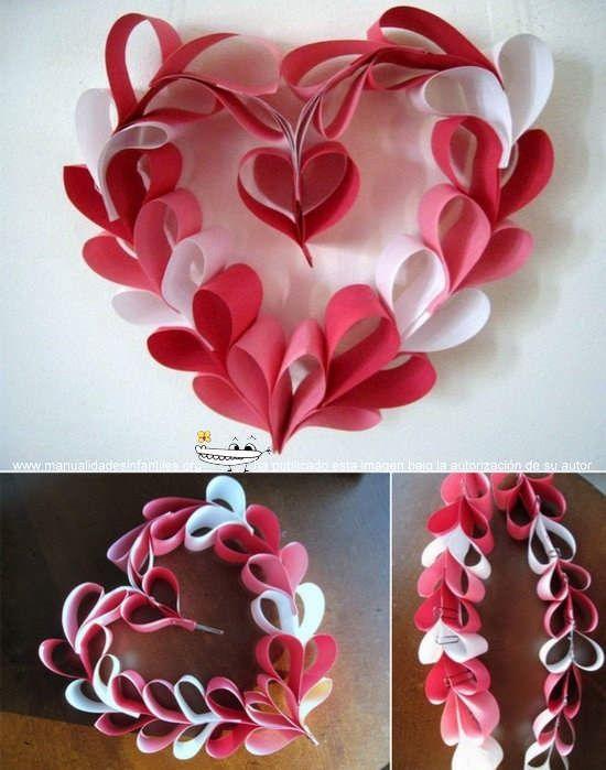 126 best manualidades ideas images on pinterest macrame - Corazones de san valentin ...