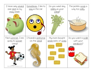 Free /s/ loaded sentences flash cards.  Initial, medial, and final word positions!