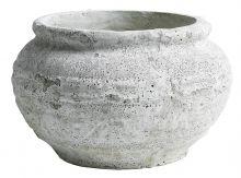 Garden pot, white/grey, L | Nordal.eu