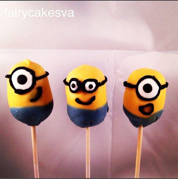 Minion Cake pops by FairyCakesVA on Etsy, $24.00