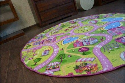 Dětský kulatý koberec Sweet Town