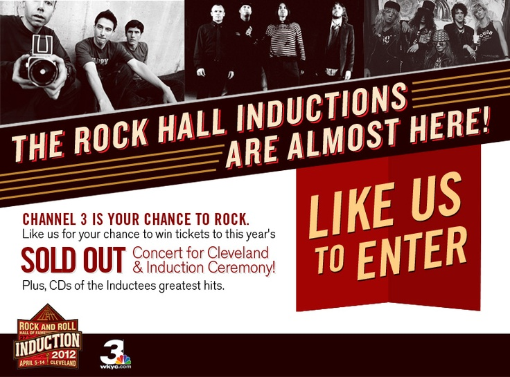 Click the pic to for your chance to win tickets to the sold out Rock and Roll Hall of Fame Induction Ceremony!