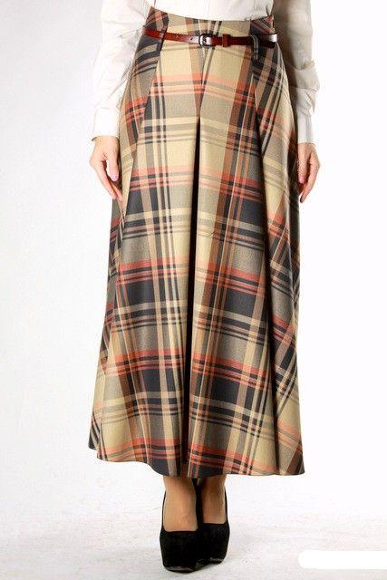 Длинная юбка песочного цвета от  Emka Fashion / 288/ernesta
