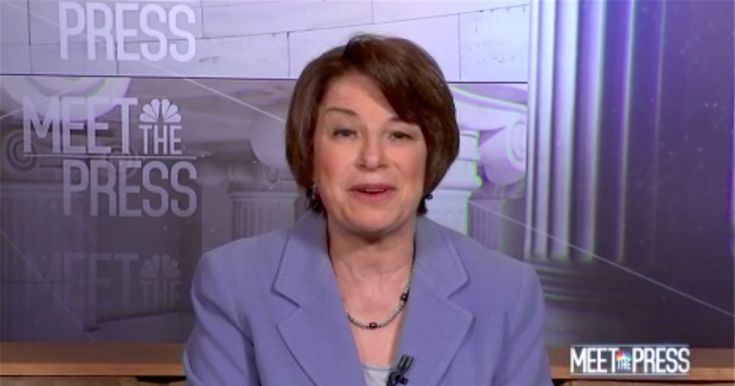 """Minnesota's Democratic Sen. Amy Klobuchar said Sunday that she believes tech giants like Facebook should face fines if they fail to get rid of """"bots."""""""