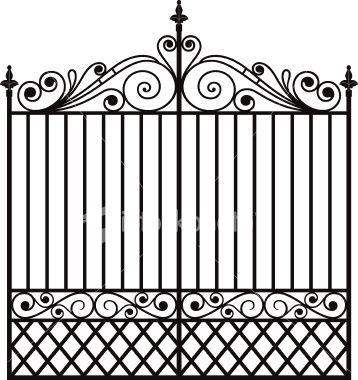 wrought iron gate
