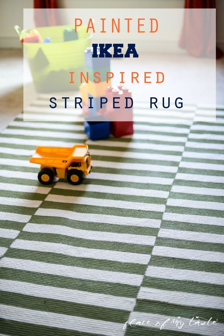 PAINTED IKEA INSPIRED STRIPED RUG - Place Of My Taste