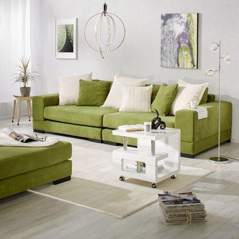 Schicker Hocker in Grün - optimal passend zum Megasofa JANIK