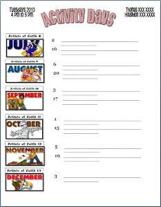 Calendar 2013 July-Dec