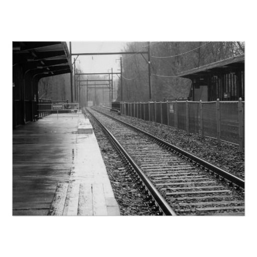 Alone at the Station Print