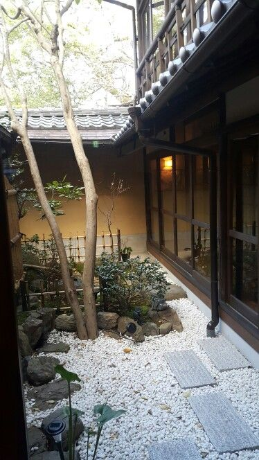 Small garden in Kyoto Guesthouse Lantern Gion.