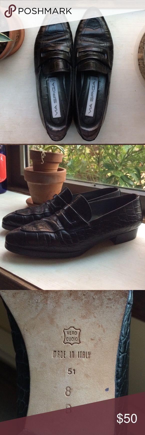 Via Spiga Loafers Women's size 8-Italian leather-Pointed-toe Via Spiga Shoes Flats & Loafers