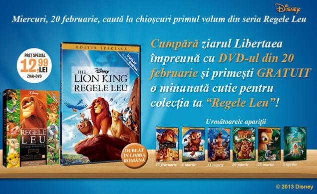 """Inserturi: Colectia """"Regele Leu"""" de la Libertatea - cele mai frumoase povesti animate"""