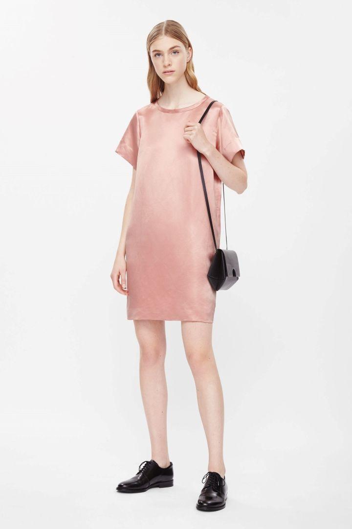 COS Silk dress in Peach