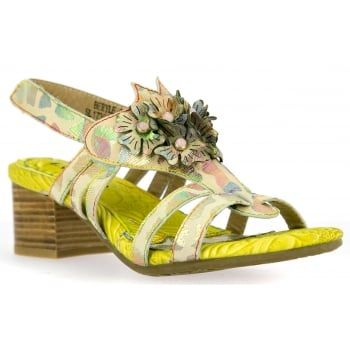 New in from quirky brand Laura Vita are these ladies Beryle sandals in beige. Dare to be different in these bold handcrafted sandals made from natural leather which boast comfortable padding and a flexible sole. These brilliantly detailed sandals are sure to make you stand out this summer and they're perfect if you're looking for a dressy holiday look. http://www.marshallshoes.co.uk/womens-c2/laura-vita-womens-beryle-03-beige-heeled-sling-back-sandals-p4703