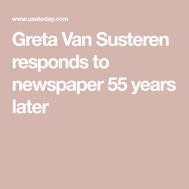 Greta Van Susteren responds to newspaper 55 years later