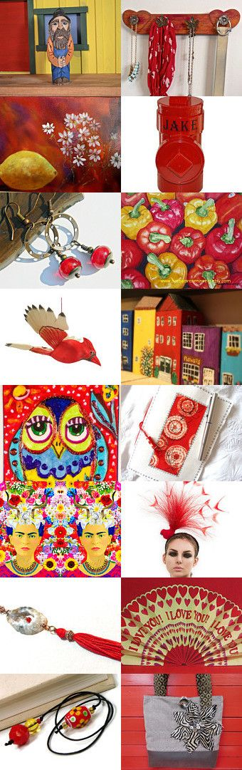 Red Makes Me Smile !!! by riagr on Etsy--Pinned+with+TreasuryPin.com