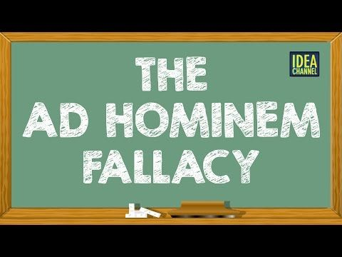 "A Guide to Logical Fallacies: The ""Ad Hominem,"" ""Strawman"" & Other Fallacies Explained in 2-Minute Videos 