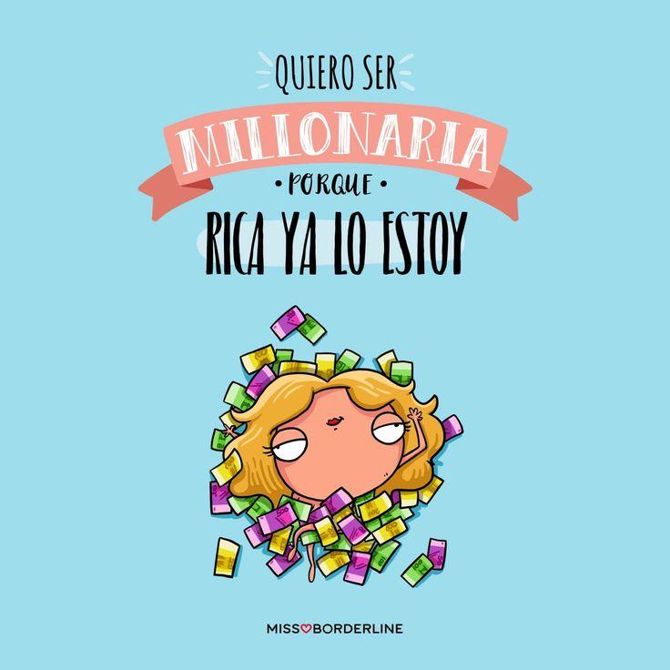 Quiero ser millonaria, porque rica ya lo estoy! #humor #graciosas #divertidas #funny